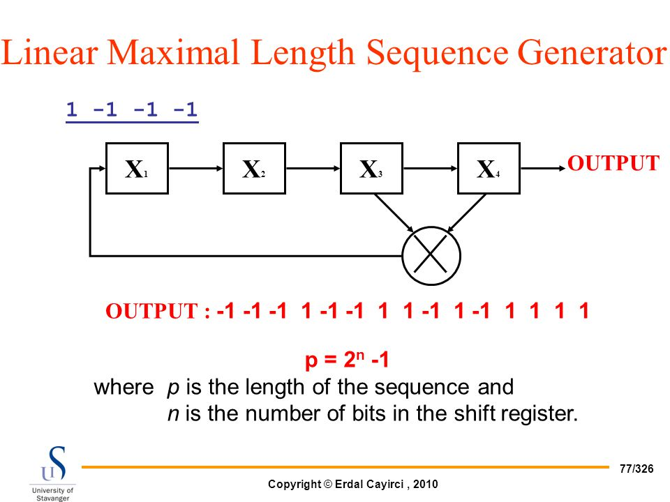 Linear Maximal Length Sequence Generator