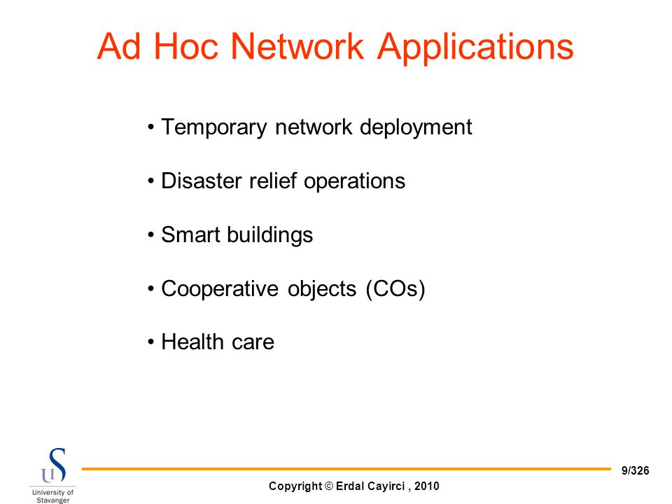 Ad Hoc Network Applications
