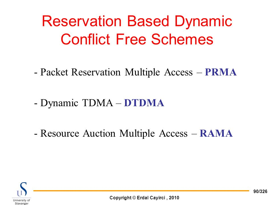 Reservation Based Dynamic Conflict Free Schemes