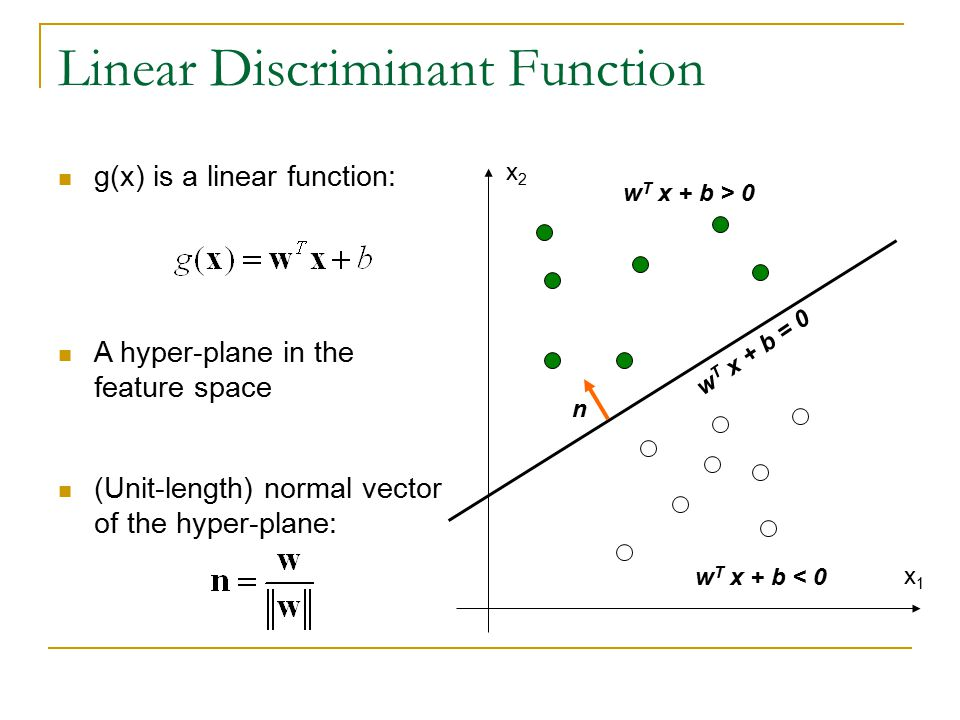 Linear Discriminant Function