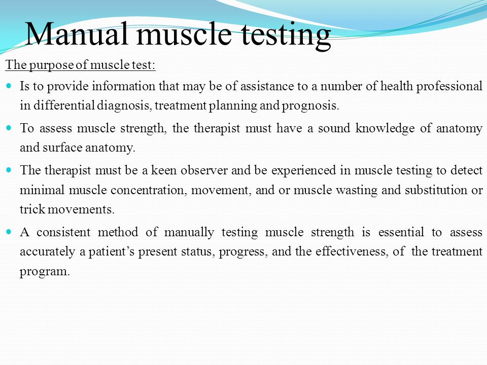 Manual muscle testing grading and procedures | rehab.
