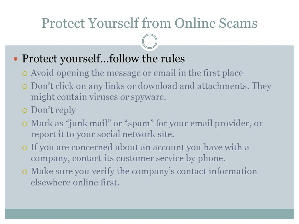 Protect Yourself from Online Scams