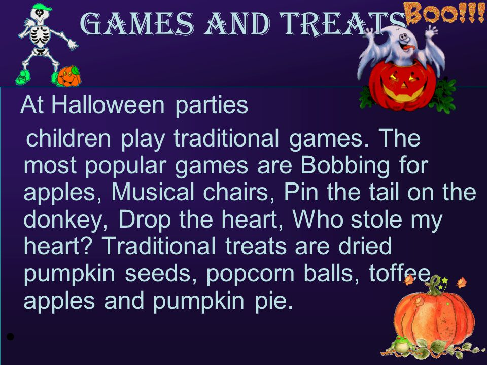 Games and Treats At Halloween parties