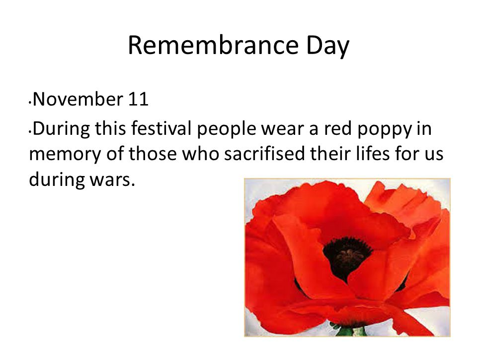 Remembrance Day November 11