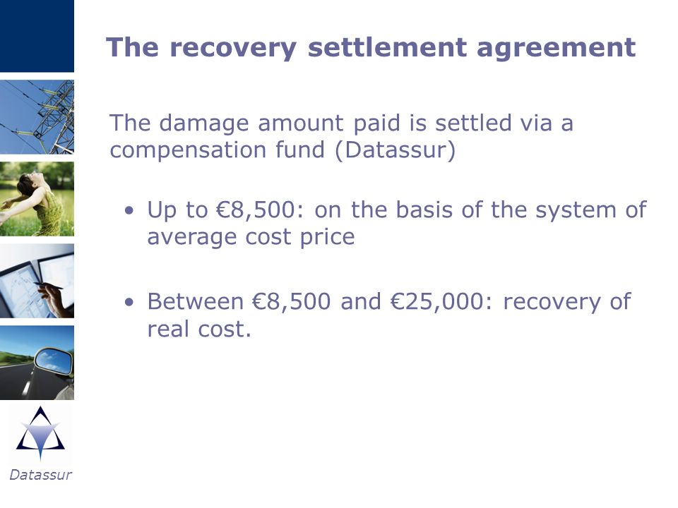 The recovery settlement agreement