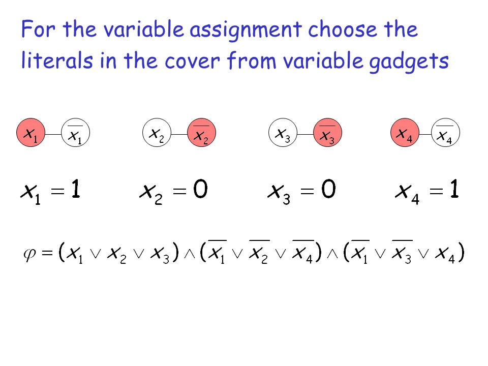 For the variable assignment choose the
