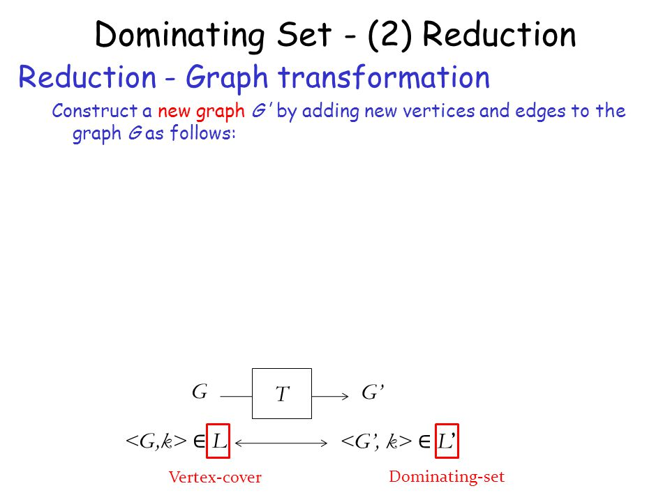 Dominating Set - (2) Reduction