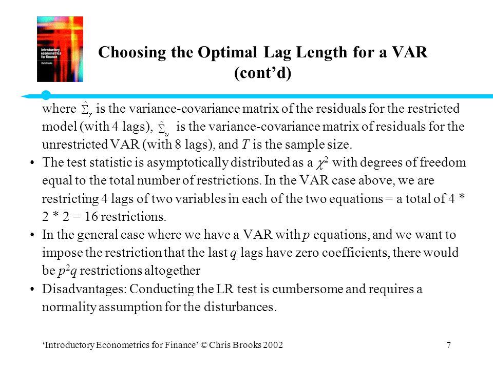 Vector Autoregressive Models - ppt video online download