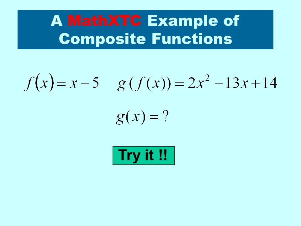 A MathXTC Example of Composite Functions