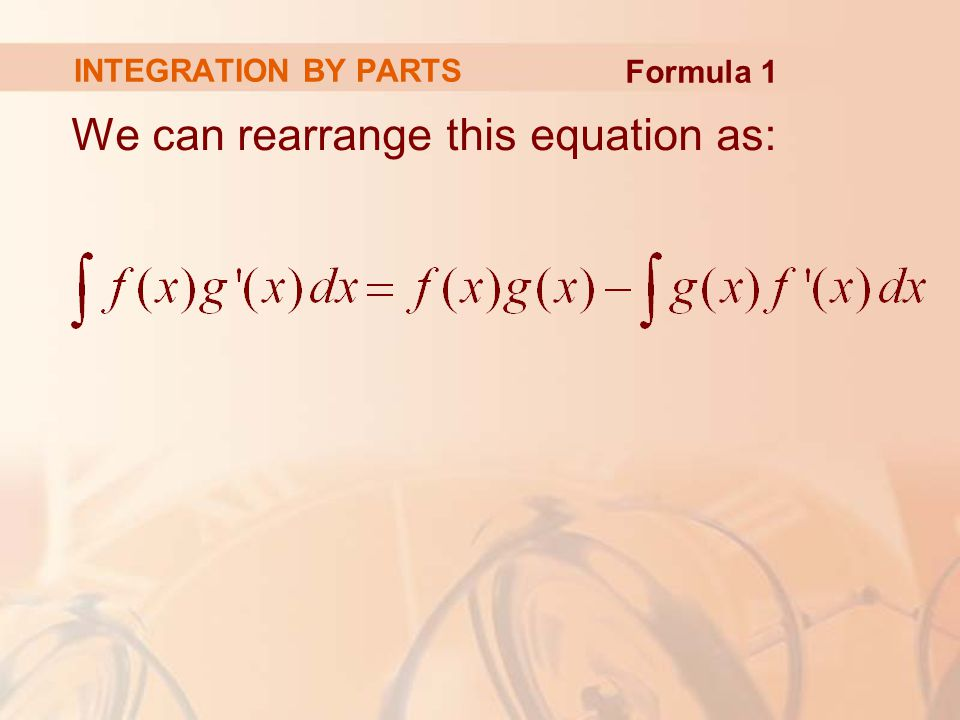 We can rearrange this equation as: