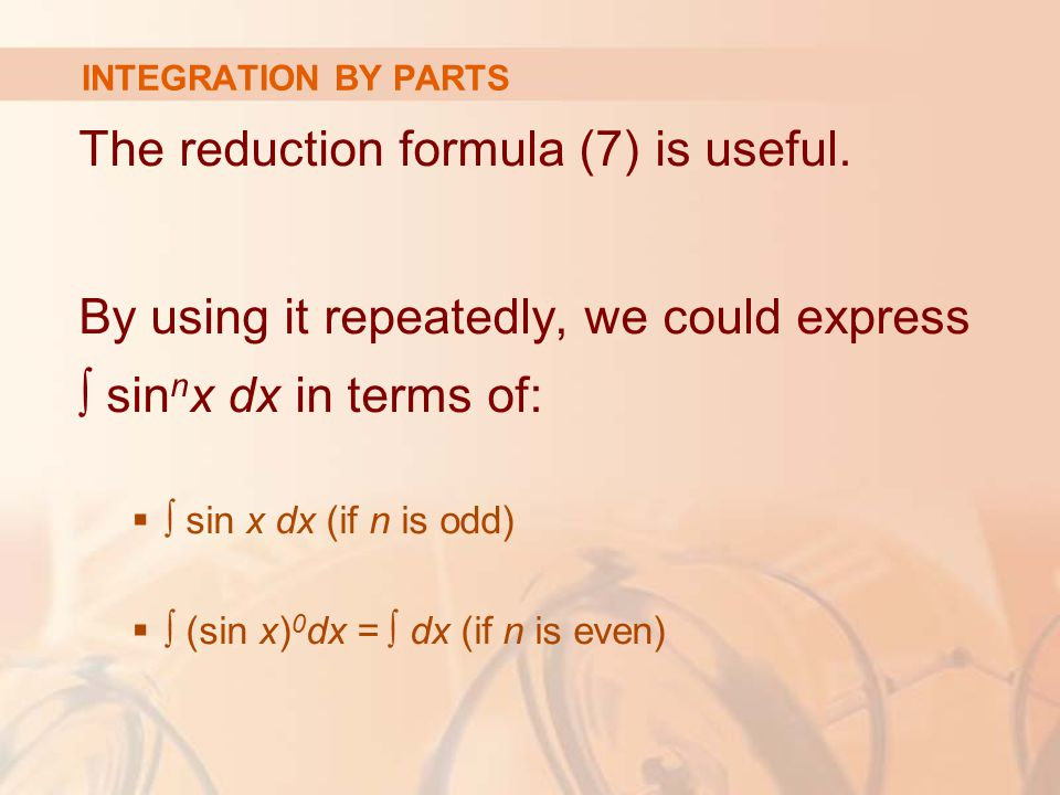 The reduction formula (7) is useful.