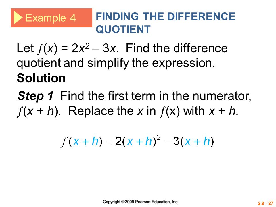 FINDING THE DIFFERENCE QUOTIENT