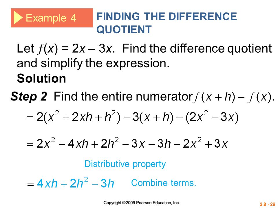 Step 2 Find the entire numerator