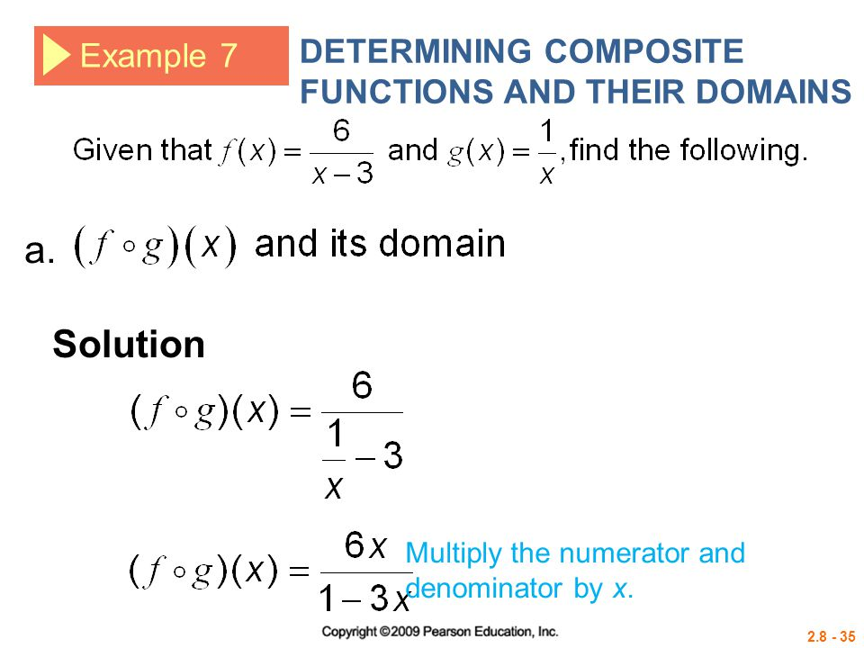a. Solution DETERMINING COMPOSITE FUNCTIONS AND THEIR DOMAINS