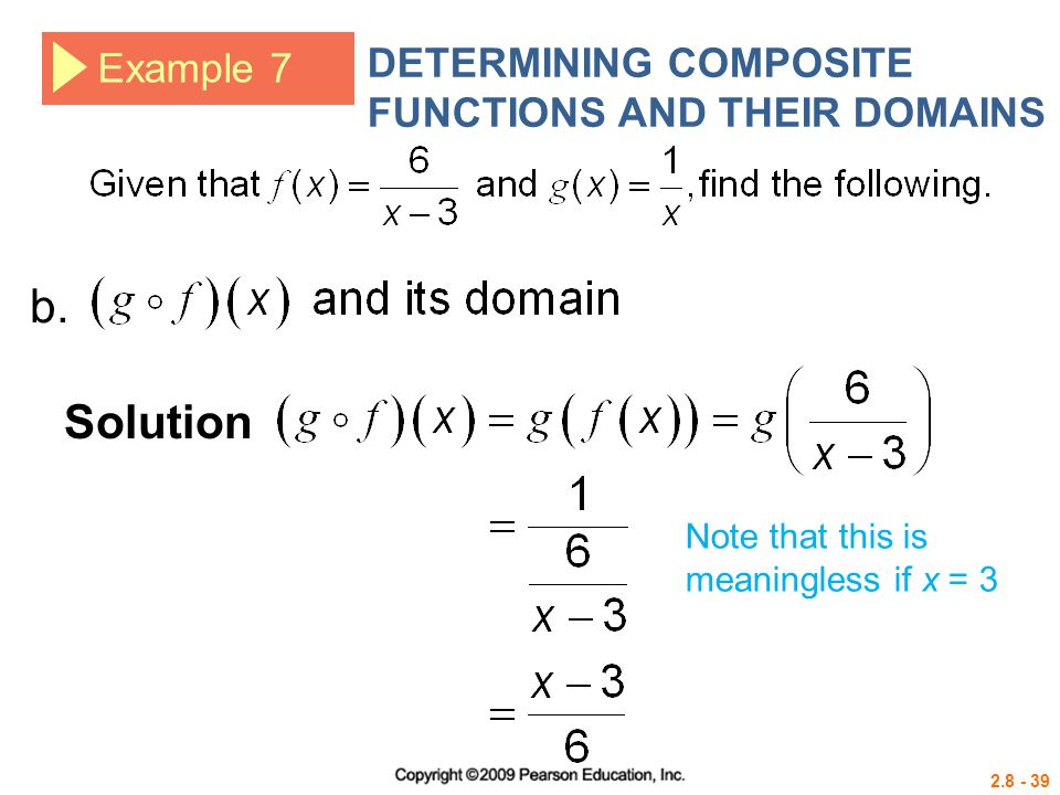 b. Solution DETERMINING COMPOSITE FUNCTIONS AND THEIR DOMAINS