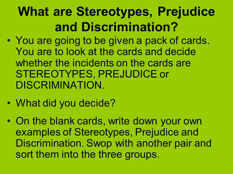 stereotype and prejudice free workplace essay Prejudice is a learned attitude toward a object, involving negative feelings (dislike or fear), negative beliefs (stereotypes) that justify the attitude, and a behavioral intention to avoid, control, dominate, or eliminate those in the target group.