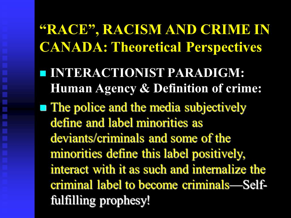 perspectives on racism The politics of racism for a century, between the civil war and the vietnam war, racism dominated politics in the deep south politicians commonly used racial hatred, intimidation and fear to garner and maintain power.