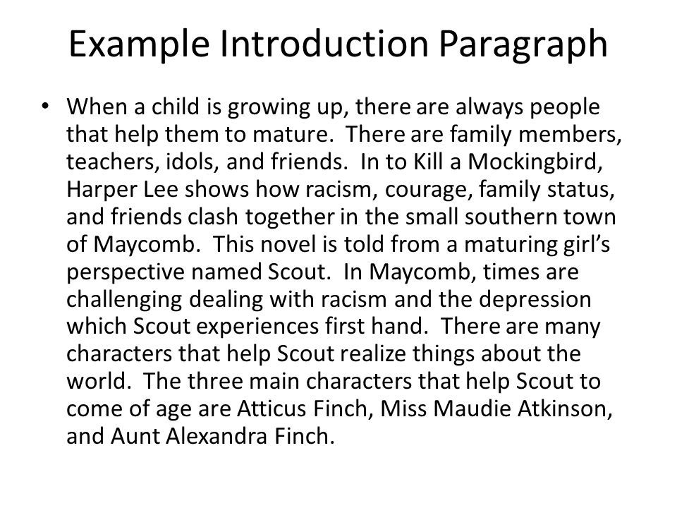 introduction essay of to kill a mockingbird