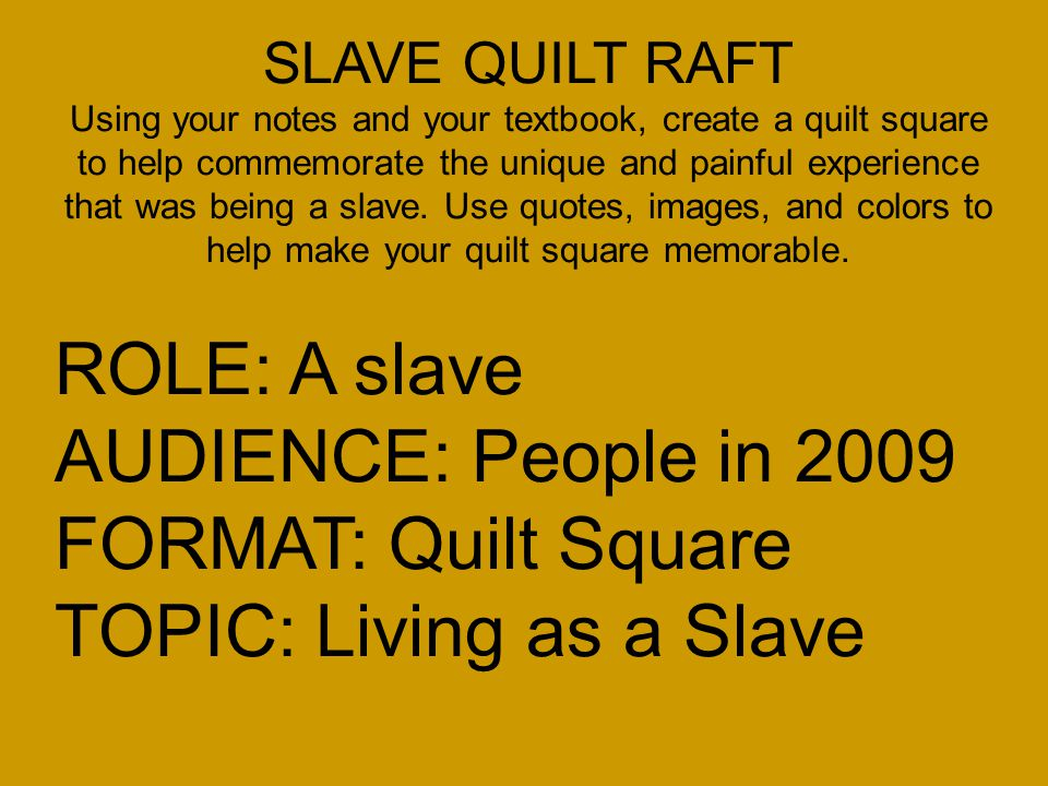 Slave Quilt Designs Some People Think That There Were Secret