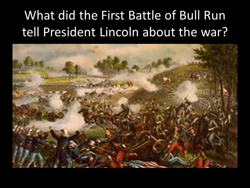 What did the First Battle of Bull Run tell President Lincoln about the war