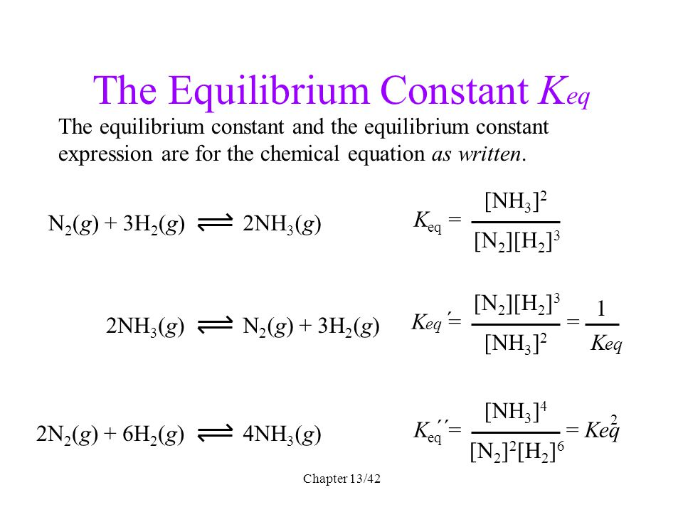 Chapter 6 Chemical Equilibrium Ppt Download. The Equilibrium Constant Keq. Worksheet. Ap Chemistry Worksheet Keq Questions At Mspartners.co