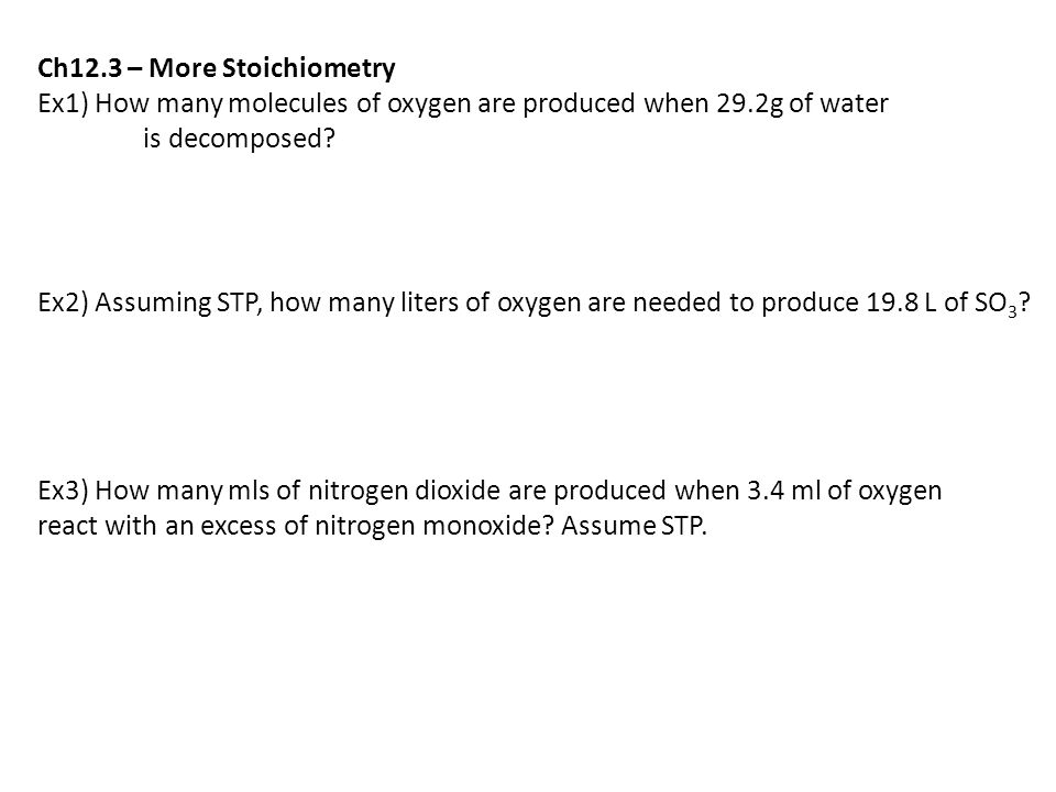 Ch Stoichiometry N2g H2g Nh3g Ppt Video Online Download