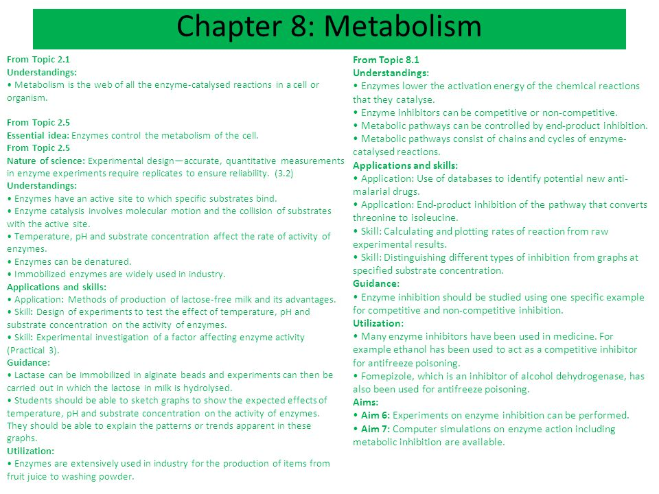 Ch 8 An Intro To Metabolism Ppt Download