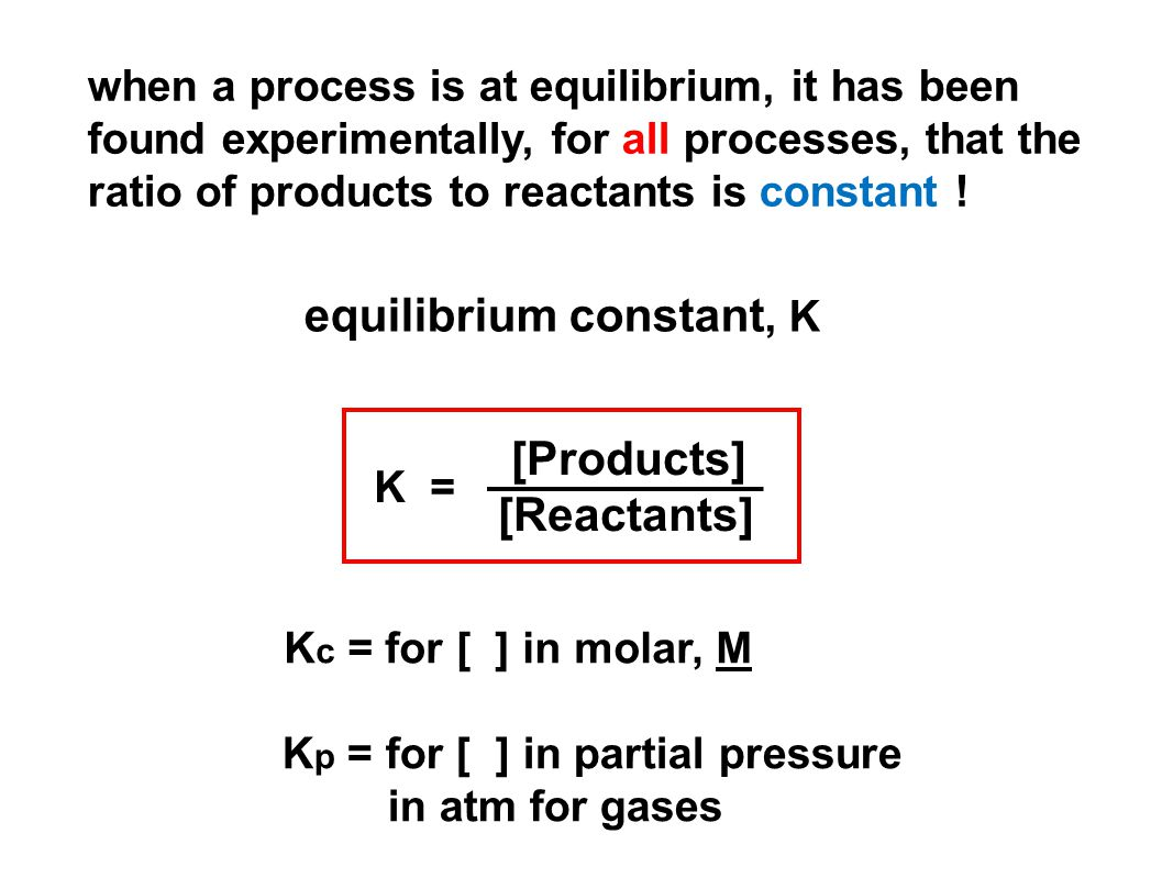 Chemical equilibrium – 2 opposing reactions occur