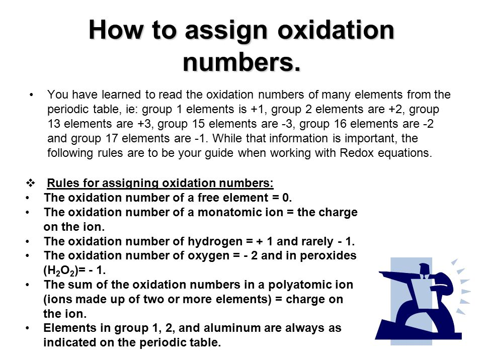 Oxidation reduction reaction redox reaction ppt video online how to assign oxidation numbers urtaz Images