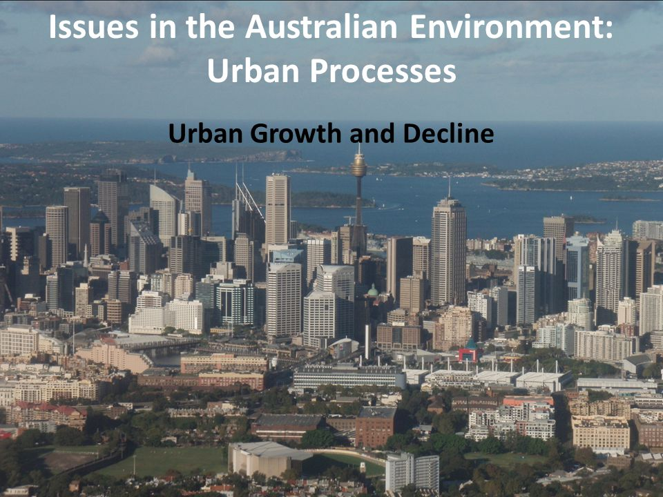 Urban Growth and Decline