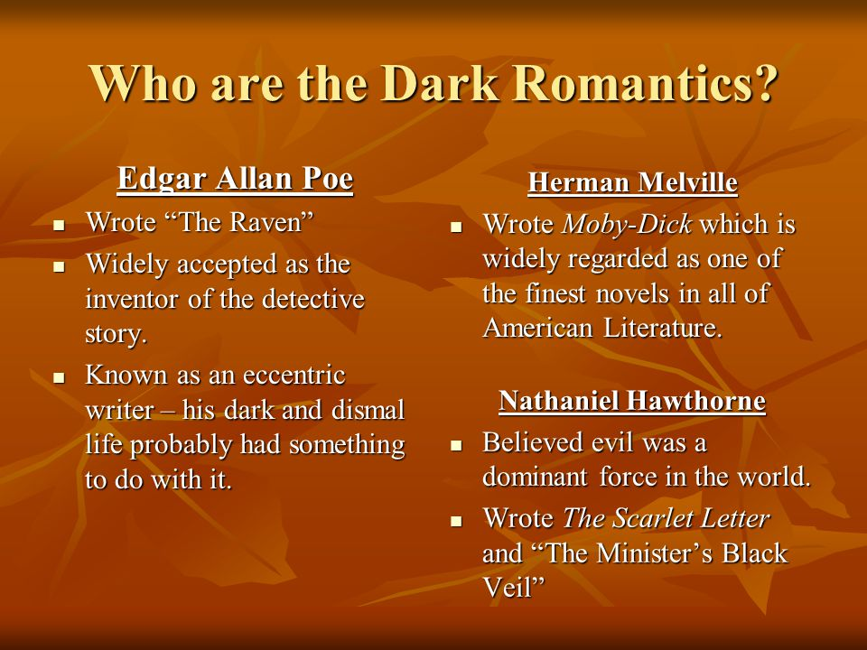 Who are the Dark Romantics