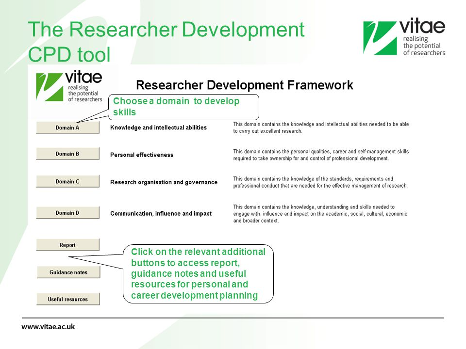 The Researcher Development CPD tool