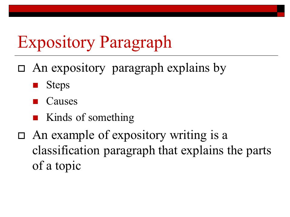 an expository paragraph