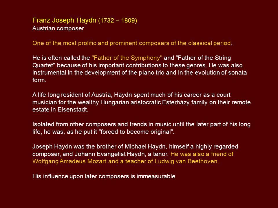 haydn biography