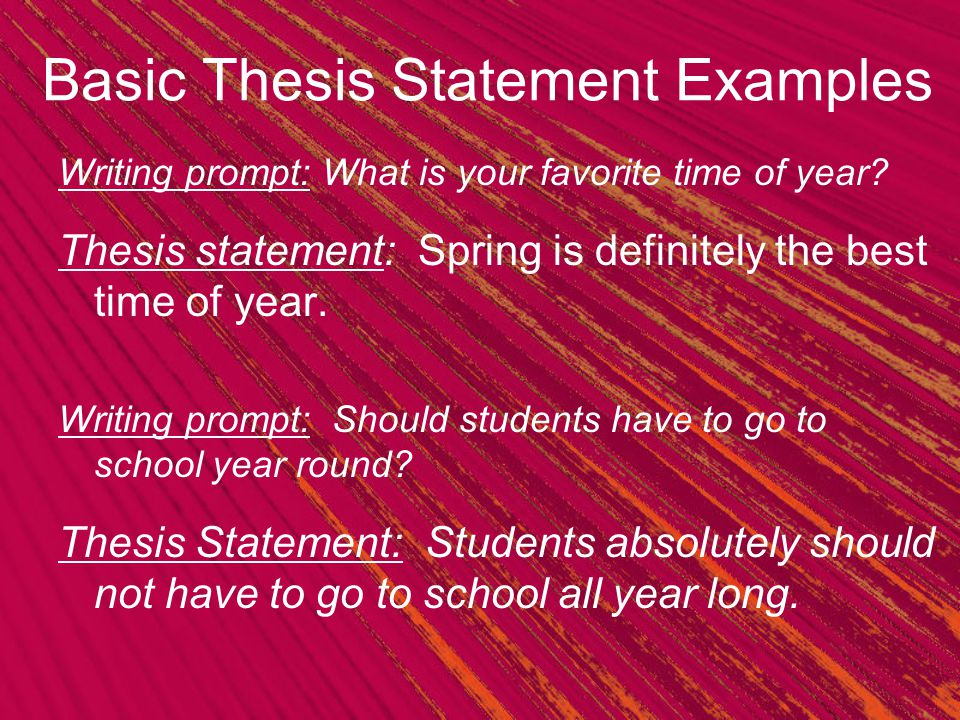 The 3 Point Thesis Statement Ppt Video Online Download