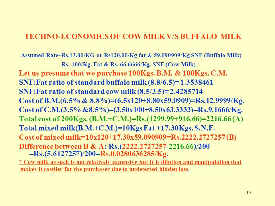 Techno Economics Of Dairy Business Ppt Video Online Download