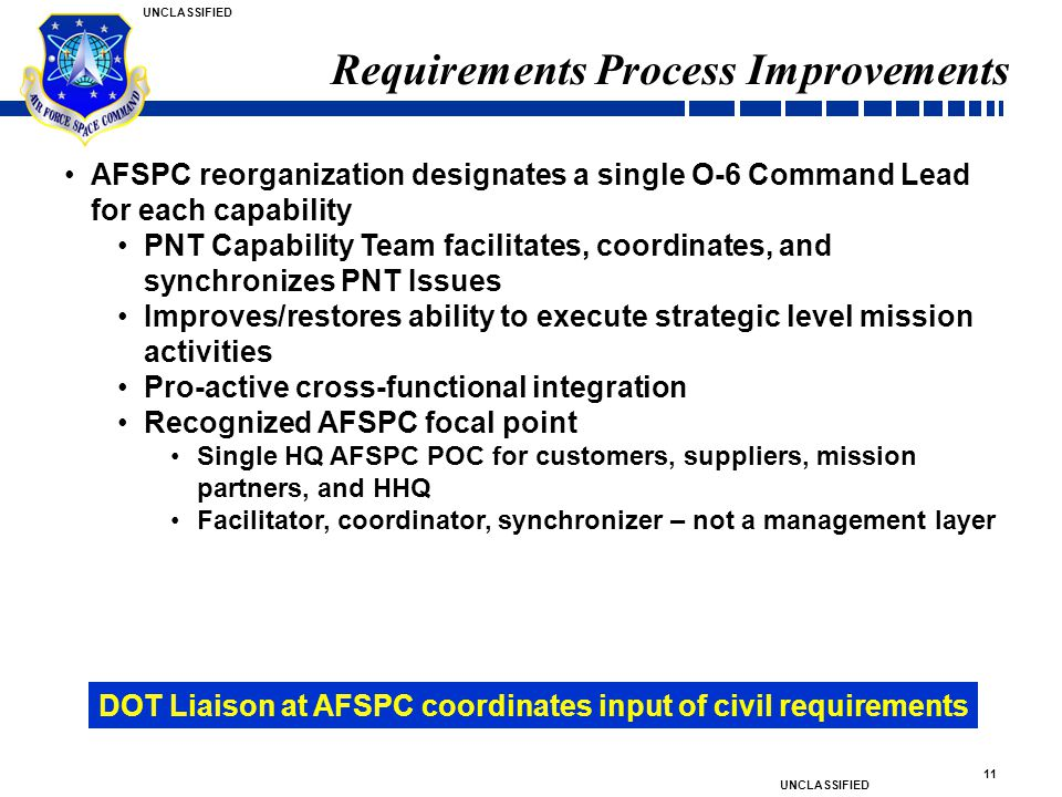 Requirements Process Improvements