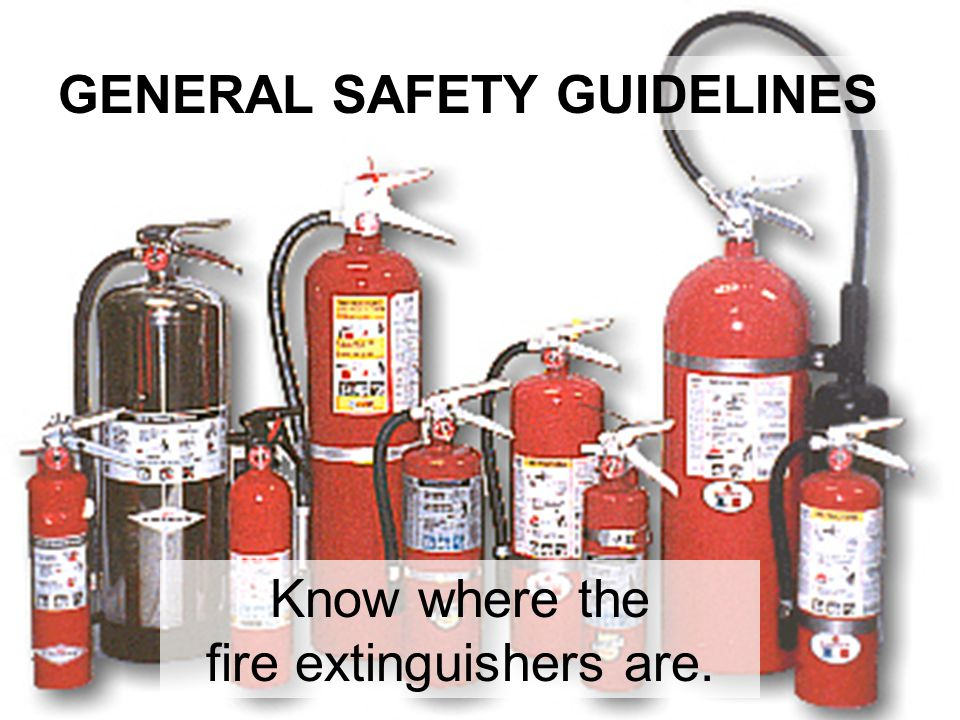 fire extinguishers are.