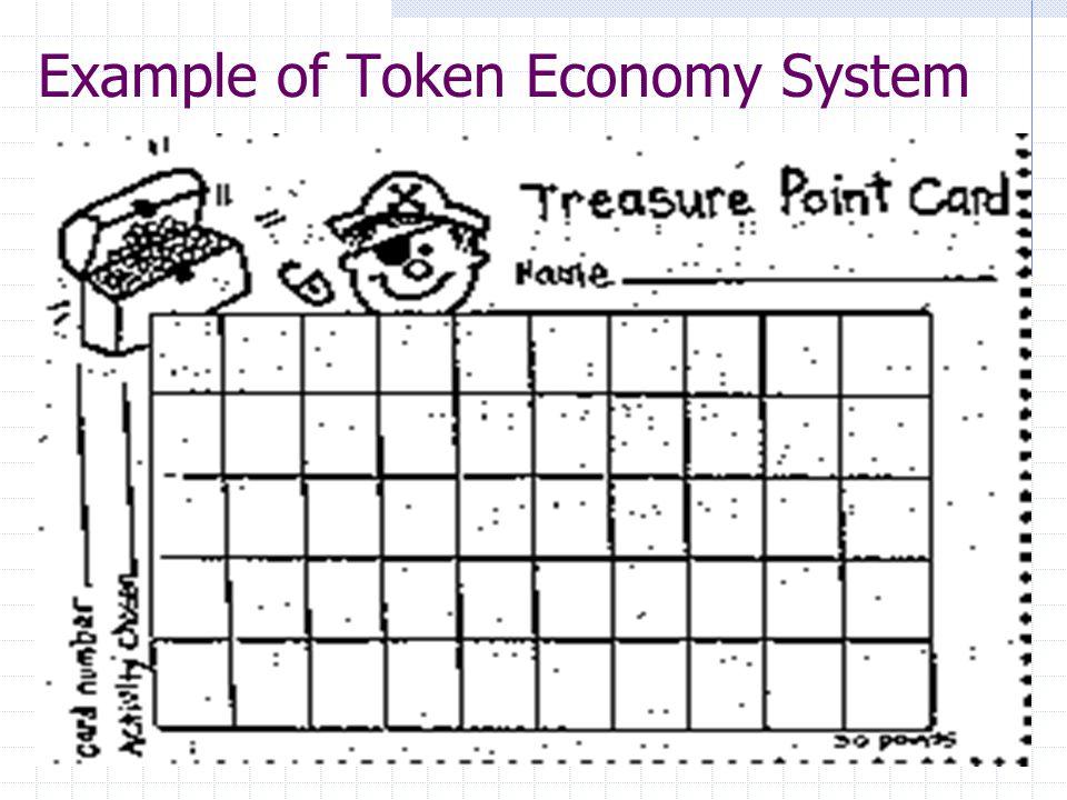 Token economy educate autism.