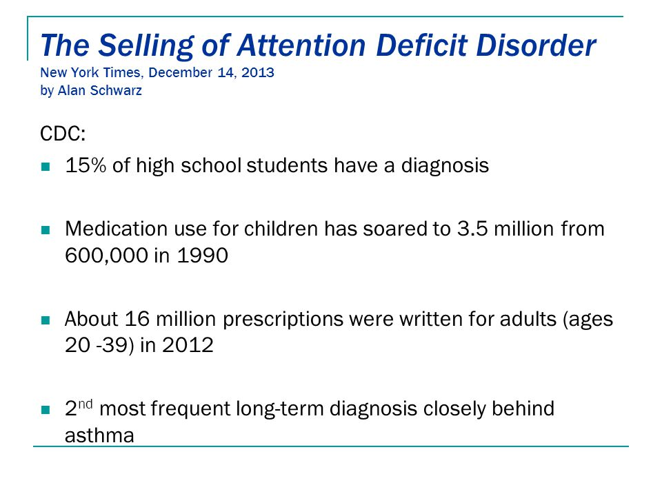 The Selling Of Attention Deficit >> Understanding Behavior Ppt Download
