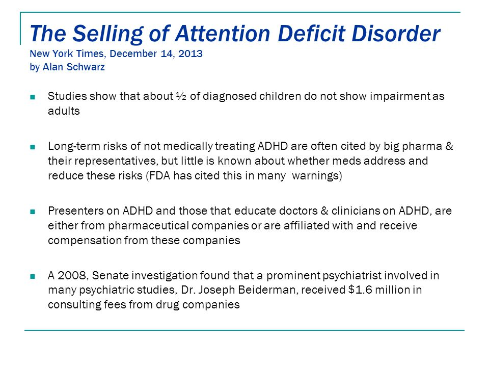 The Selling Of Attention Deficit >> Understanding Behavior Ppt Download