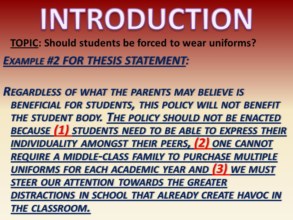 student should wear uniform to school