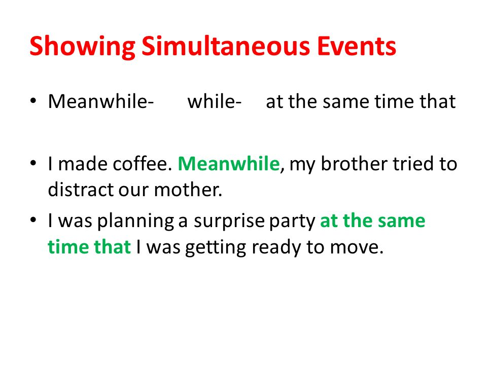 Showing Simultaneous Events