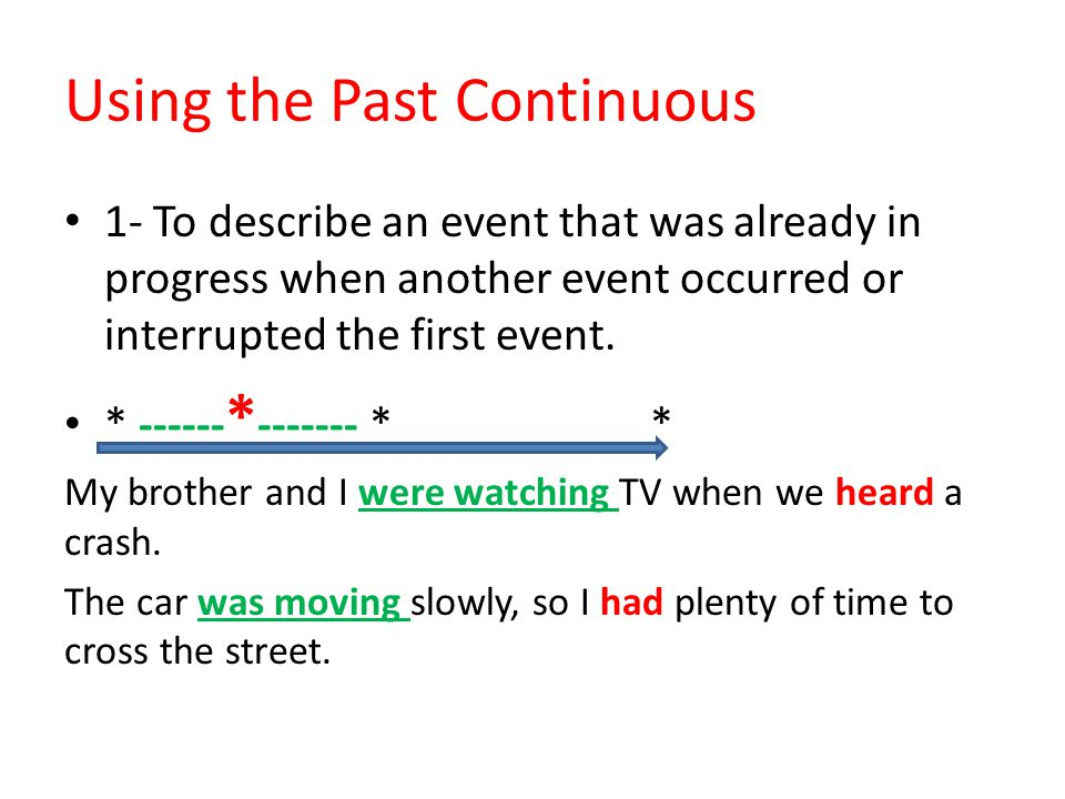 Using the Past Continuous