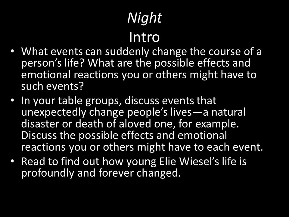 Night By Elie Wiesel Never Shall I Forget That Nocturnal Silence