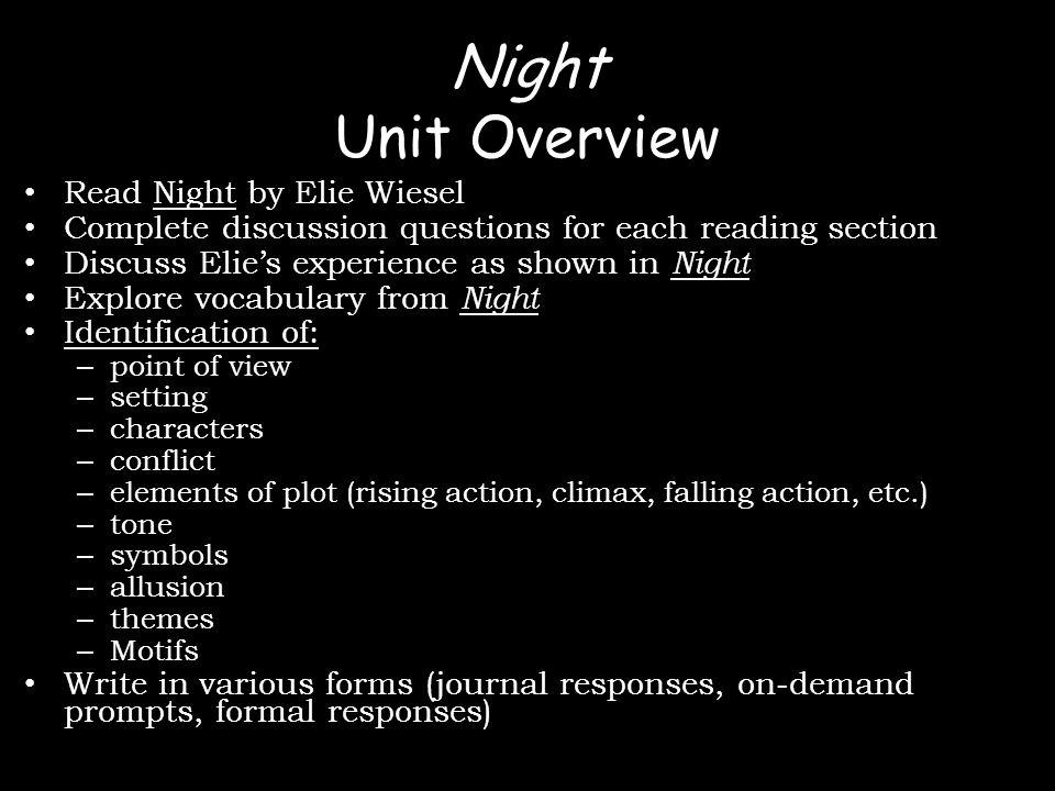 """Printable Worksheets night elie wiesel worksheets : Night by Elie Wiesel """"Never shall I forget that nocturnal silence ..."""