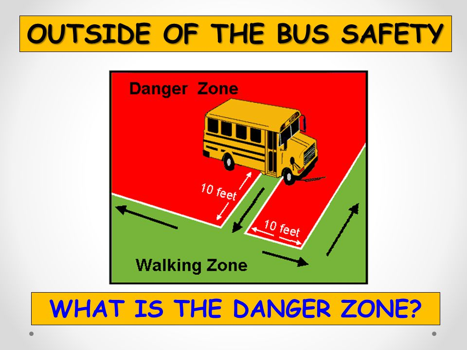OUTSIDE OF THE BUS SAFETY