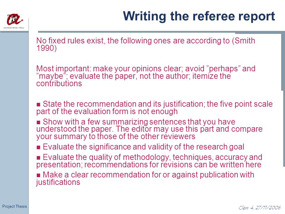 Phd thesis referee report how to write a hexaduad poem