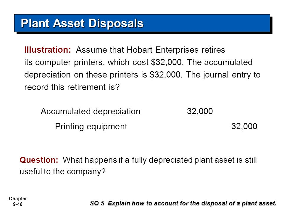 how to journalize a fully depreciated asset
