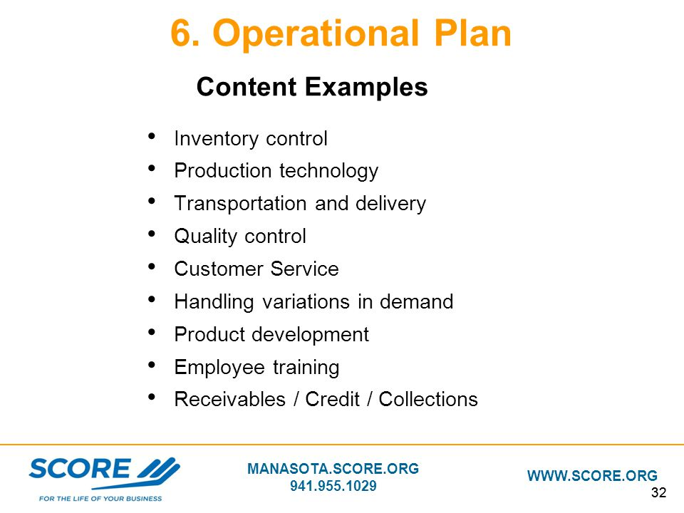 Building your business plan ppt download operational plan content examples inventory control accmission